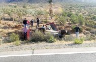 Camioneta vuelca en la ruta D- 43: conductor herido