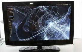 Hasta la  tele de 52 pulgadas destruyó iracundo sujeto que ingresó a vivienda