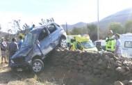 Cuatro heridos en volcamiento de vehículo en ruta Ovalle - Punitaqui