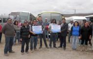Familias de caletas Talquilla y El Toro aseguran el Transporte Público
