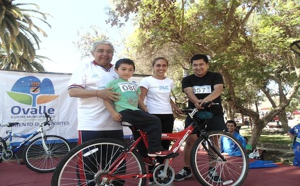 Más de 200 participantes llegaron a la Novena Cicletada Familiar en Ovalle