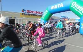 Con más de 400 participantes se realizó la 11ª cicletada familiar en Ovalle