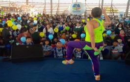 Más de mil niños fueron parte de la maratón de Zumba Kids en Ovalle