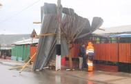 Las lluvias y el viento provocan diversos daños en la provincia de Limarí
