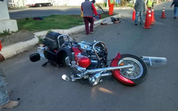 Accidente de motociclista en salida oriente de Ovalle