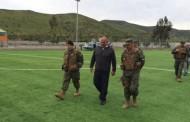 Jefe de la Defensa Nacional conoció los problemas tras el terremoto en Punitaqui