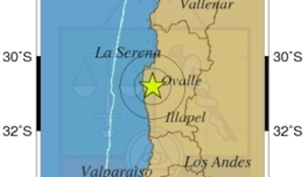 A 5.1 grados llegó el sismo que remeció a Ovalle al medio día