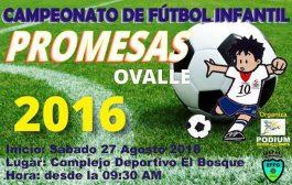Este sábado dan el puntapié inicial al Campeonato de Fútbol Promesas 2016