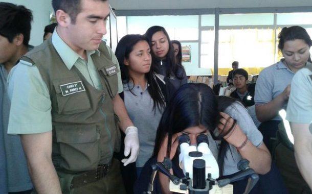 Estudiantes de Pichasca fueron C.S.I. por un día