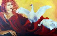 La especial mirada de la mujer del artista ovallino Estuardo Valenzuela