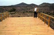 Construyen mirador en la entrada del Valle del Encanto en Ovalle