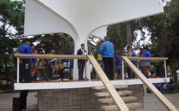 Niños músicos de Escuela de Lagunillas deslumbraron con retreta en la Plaza de Ovalle