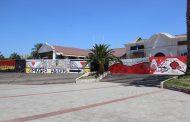 Mural embellece cierre perimetral de obras de reparación del Museo del Limarí