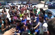 Pequeños futbolistas de Río Hurtado visitan el Centro Deportivo Azul