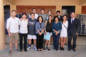 Los estudiantes del Colegio Amalia Errázuriz que se destacaron en esta PSU (Foto: cedida).