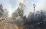 Incendio de pastizales deja sin agua potable a  casi un millar de familias