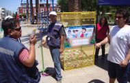Campaña enseña a ovallinos los beneficios del reciclaje