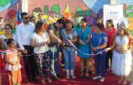"""Vecinos pintan """"Mural con Identidad"""" en El Palqui"""