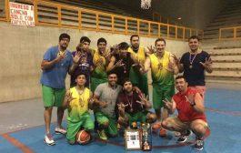 Quinteto ovallino se proclama campeón regional de basquetball