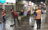 Realizan limpieza en el Paseo Peatonal de Ovalle