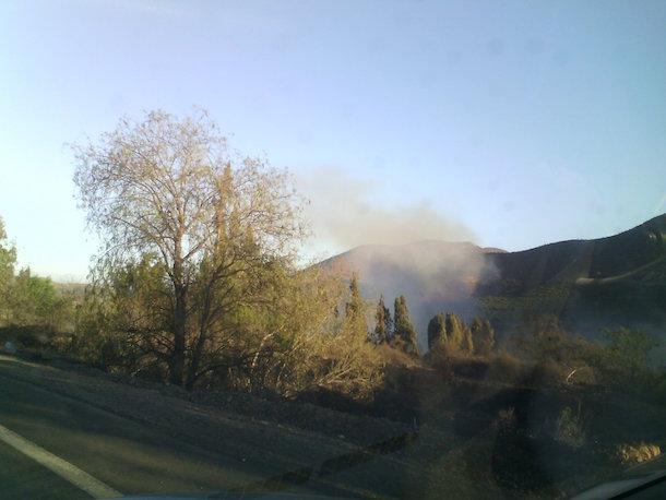 ONEMI declara Alerta Amarilla por incendio forestal en Ovalle