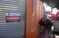 Clausuran con fuerza pública local de juegos de calle Benavente
