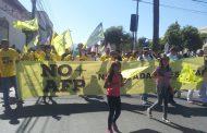 Baja concurrencia en marcha contra las AFP en Ovalle