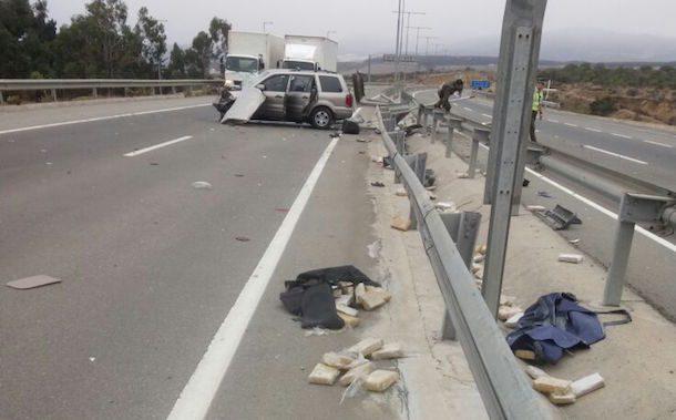 Tráfico de drogas queda al descubierto tras accidente de tránsito en Los Vilos