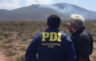 Incendio forestal en La Chimba es investigado por personal policial
