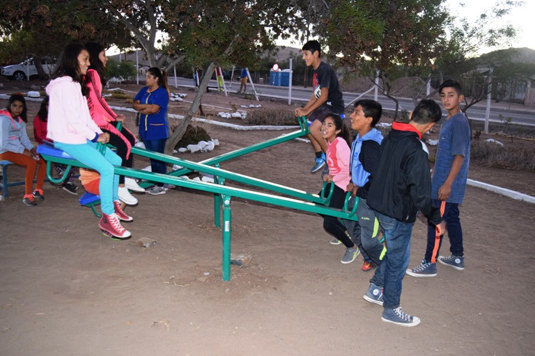 Chalinga recupera espacio publico con nueva plaza