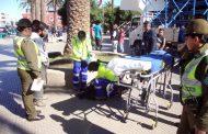 Galería metálica resbala e impacta en la espalda a joven trabajador