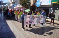 Niños ovallinos desfilaron en rechazo al maltrato infantil