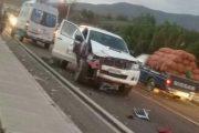Cinco vehículos protagonizan accidente múltiple en Sotaquí