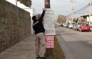 Municipio de La Serena da el ejemplo multando a quienes instalan afiches en la vía pública
