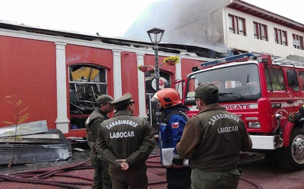 Investigan causas de incendio ocurrido esta mañana en el casco histórico de La Serena