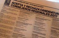 83 candidatos buscan un cupo en el Consejo Regional
