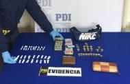 Detienen a sujeto con importante cantidad de drogas en Los Leices