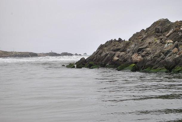 Donde el Río Limarí se junta con el mar