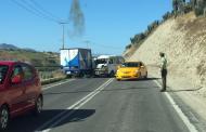 AHORA: Choque entre dos vehículos se registra en ruta a Limarí