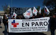 Funcionarios de salud en Monte Patria se mantienen en paro