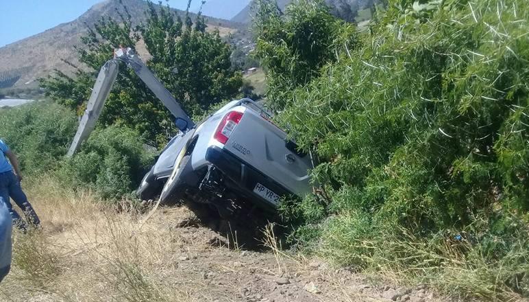 Candidato a CORE  sufre accidente de tránsito junto a su comando