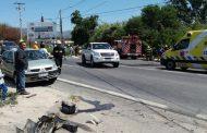 Cuatro personas lesionadas tras colisión frontal entre colectivo y camión
