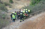ULTIMA HORA: Tres heridos al volcar camioneta a barranco en ruta a Chalinga