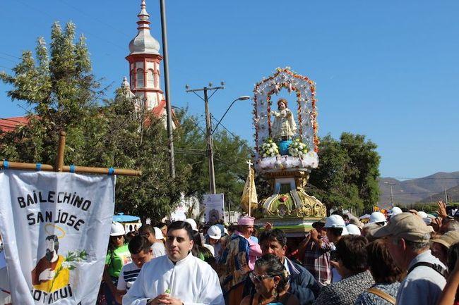 """Casi en la víspera de la visita del Papa Francisco a Chile fue celebrada fiesta al """"Niño Dios"""" de Sotaquí"""