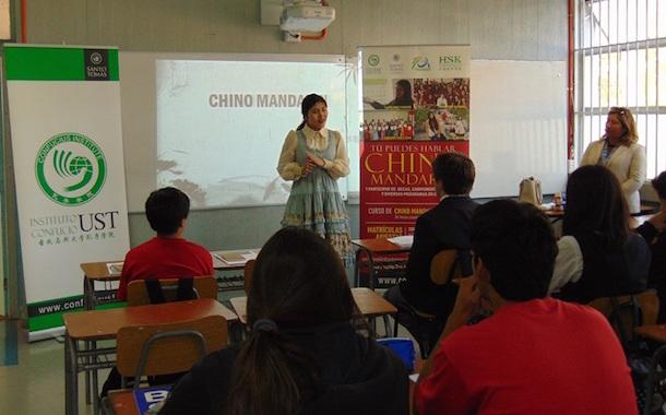 Estudiantes de Liceo Alejandro Álvarez Jofré inician curso de chino mandarín