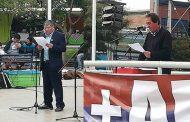 Las diferencias entre las ceremonias del 1º de Mayo de organizaciones sindicales en Ovalle