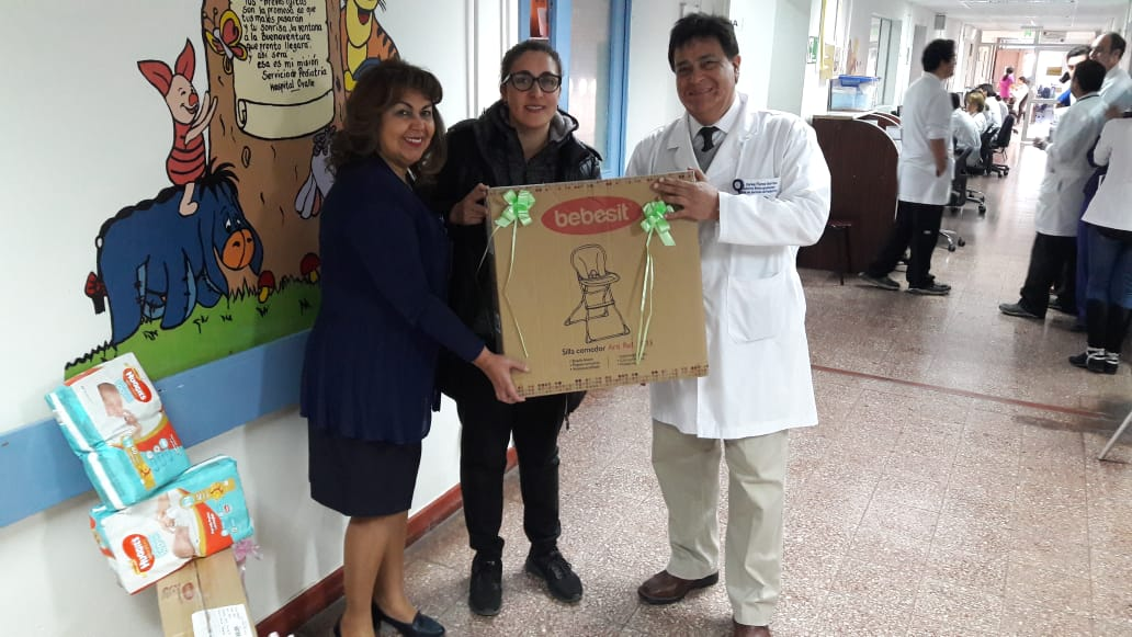 Donan material para atención de niños a Servicio de Pediatría