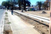 Avanzada instalación de barreras en terreno vecino al estadio Diaguita