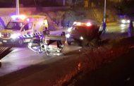 Dos lesionados en accidente registrado en salida norte durante la madrugada